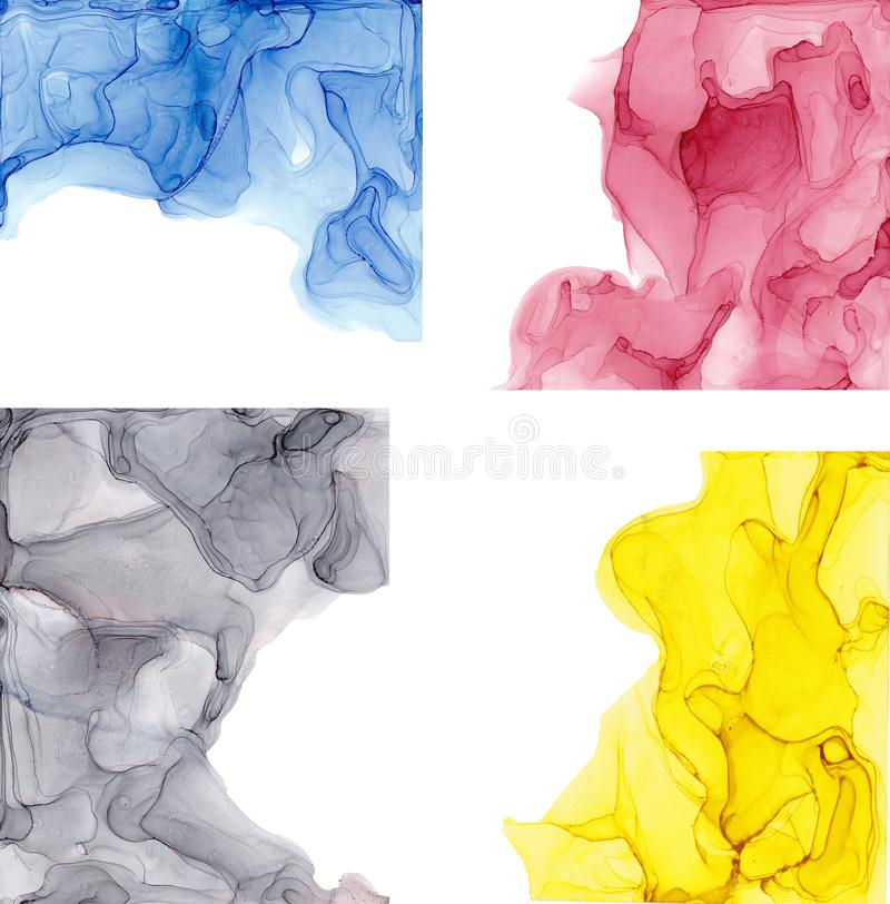 High quality . Alcohol ink modern abstract painting, contemporary details art. royalty free stock photography