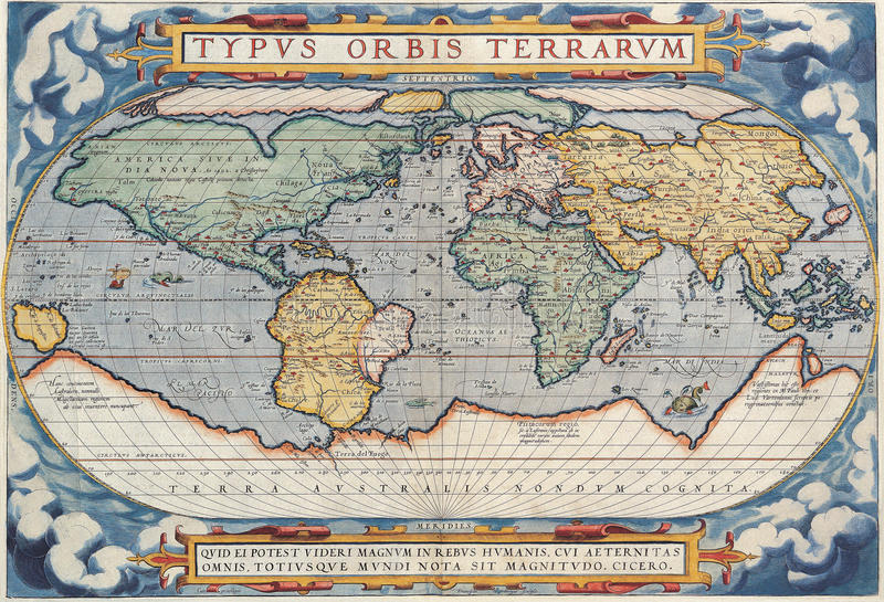 High-Quality Antique Map royalty free illustration