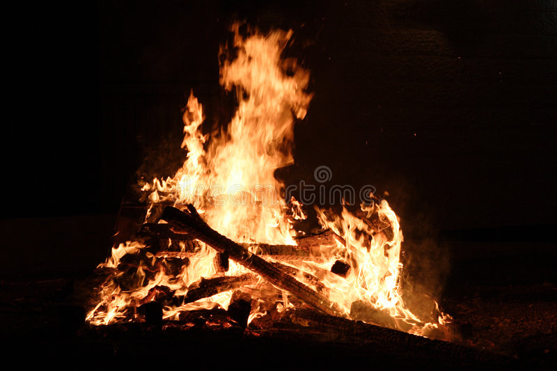 High quality bonfire stock image