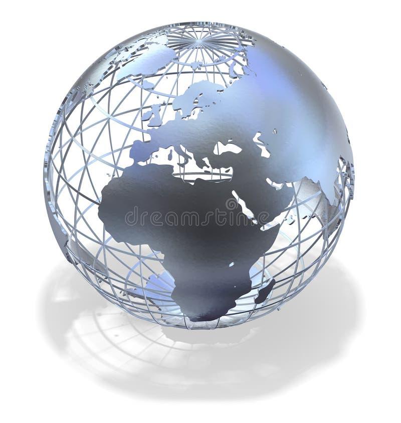 Metallic Globe stock illustration