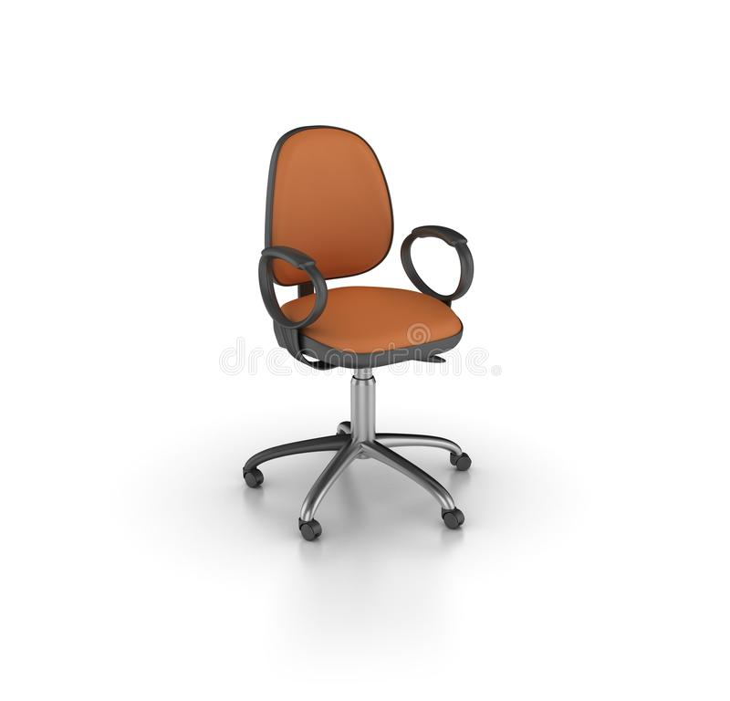 Office Chair. High Quality 3D Rendering of Office Chair on White Background