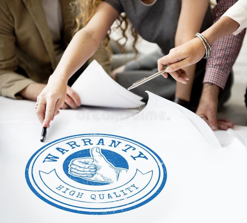 High Quality Guarantee Badge Logo Premium Concept stock image