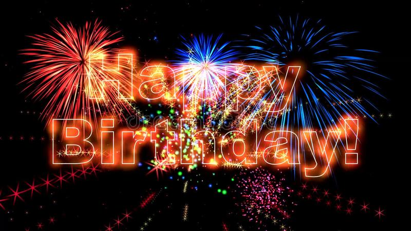 High Quality Happy Birthday Animation Hd Stock Video Video Of