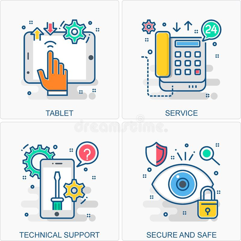Technology icons and concepts illustrations. These are High Quality Icon Illustration includes all Business, Finance, Promotions and other different concepts all vector illustration