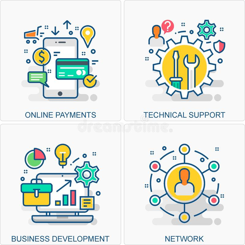 Technology icons and concepts illustrations. These are High Quality Icon Illustration includes all Business, Finance, Promotions and other different concepts all stock illustration