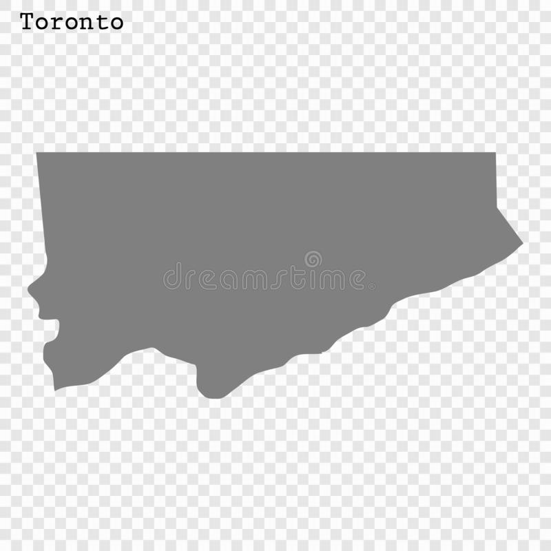 High quality Map City. High quality Map Toronto City. vector illustration royalty free illustration