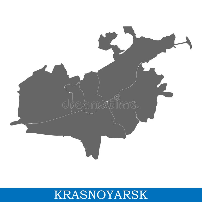 map of city of Russia royalty free illustration