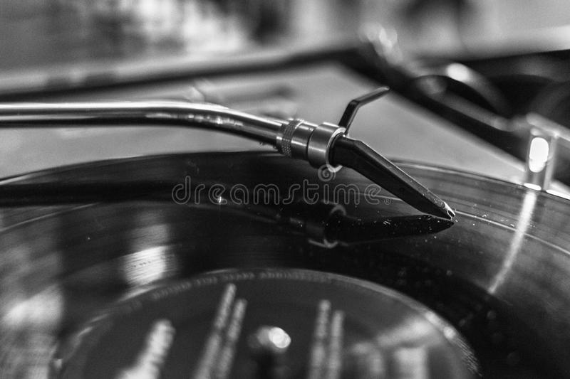 High-quality music from vinyl media royalty free stock photo