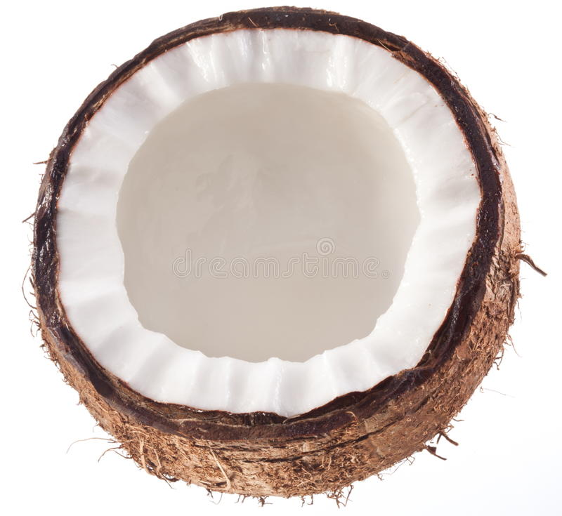 High-quality Photos Of Coconuts On A White. Stock Photo