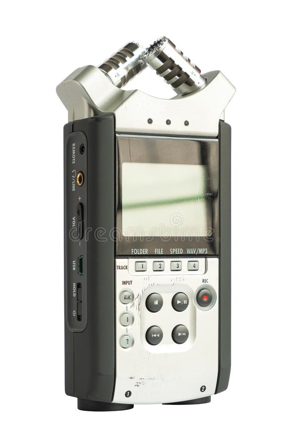 High Quality Stereo Type Digital Sound Recorder on iSolated White Background stock images