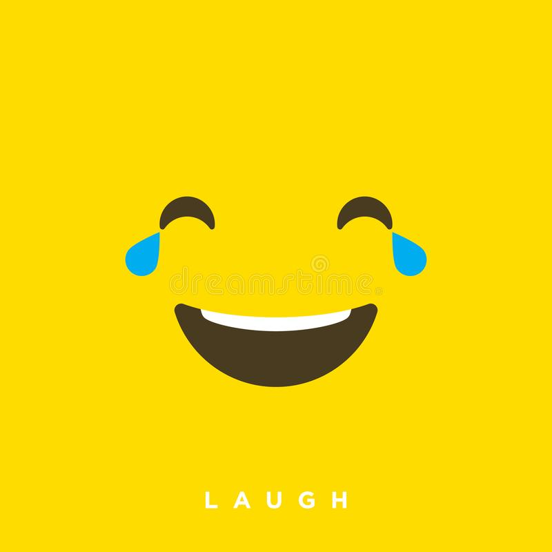 High quality vector cartoon with laughing face emoticons with Flat Design Style, social media reactions - Vector EPS10. Illustration vector illustration