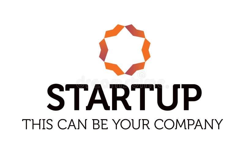High quality vector company logo royalty free illustration