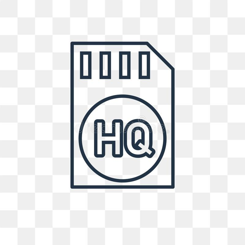High quality vector icon isolated on transparent background, lin stock illustration