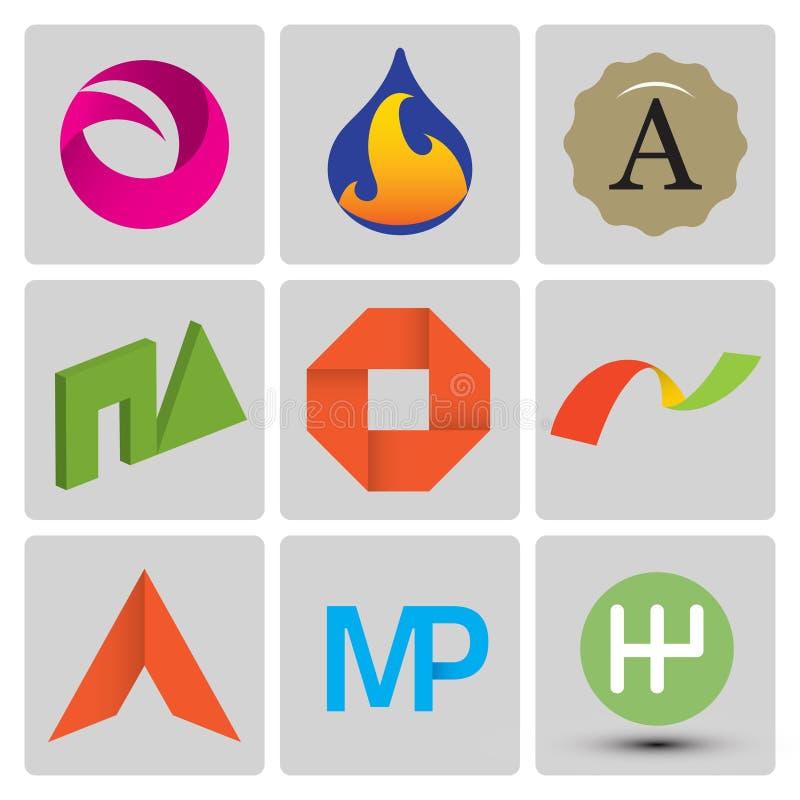 High quality vector logo set vector illustration