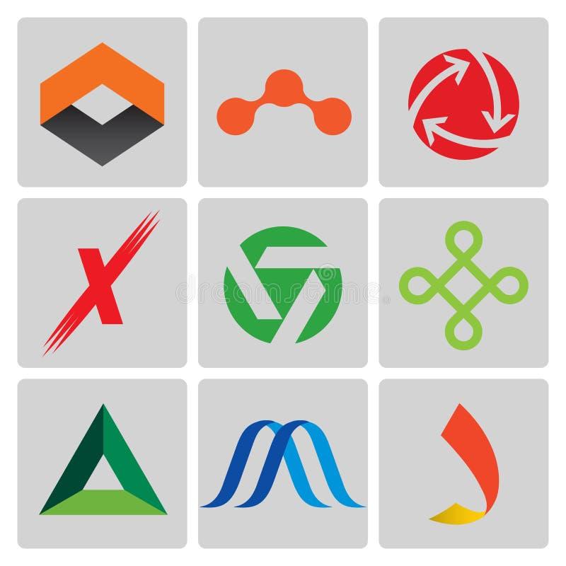 High quality vector logo set stock illustration