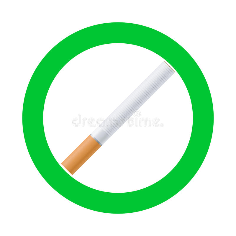 Smoking area sign. High quality vector smoking area sign royalty free illustration