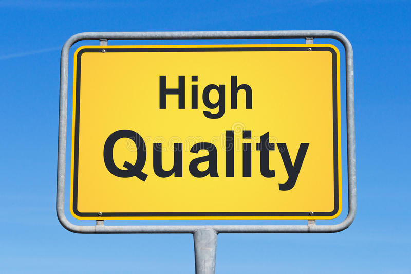 High quality. Yellow sign on blue sky background stock images