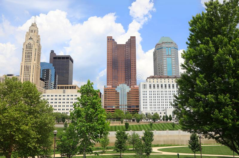 High raise buildings in Downtown Columbus stock photo