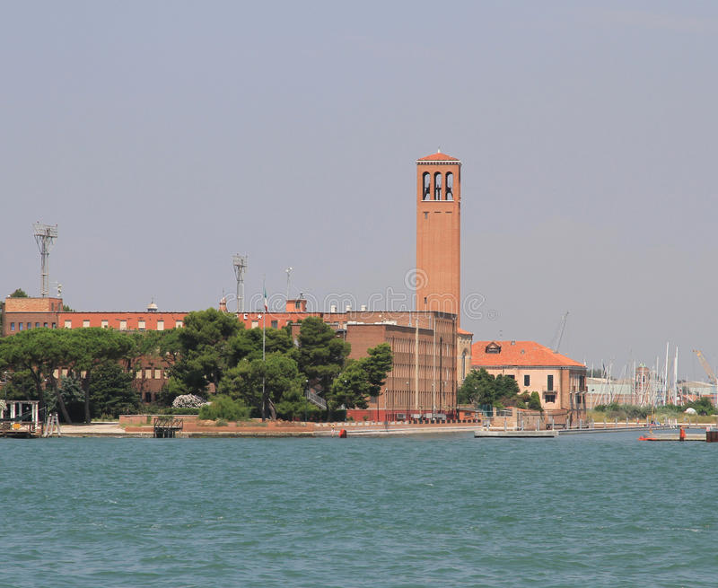 Download High Red Brick Bell Tower On The Island Of Sant'Elena In Venice Stock Photo - Image: 33335020