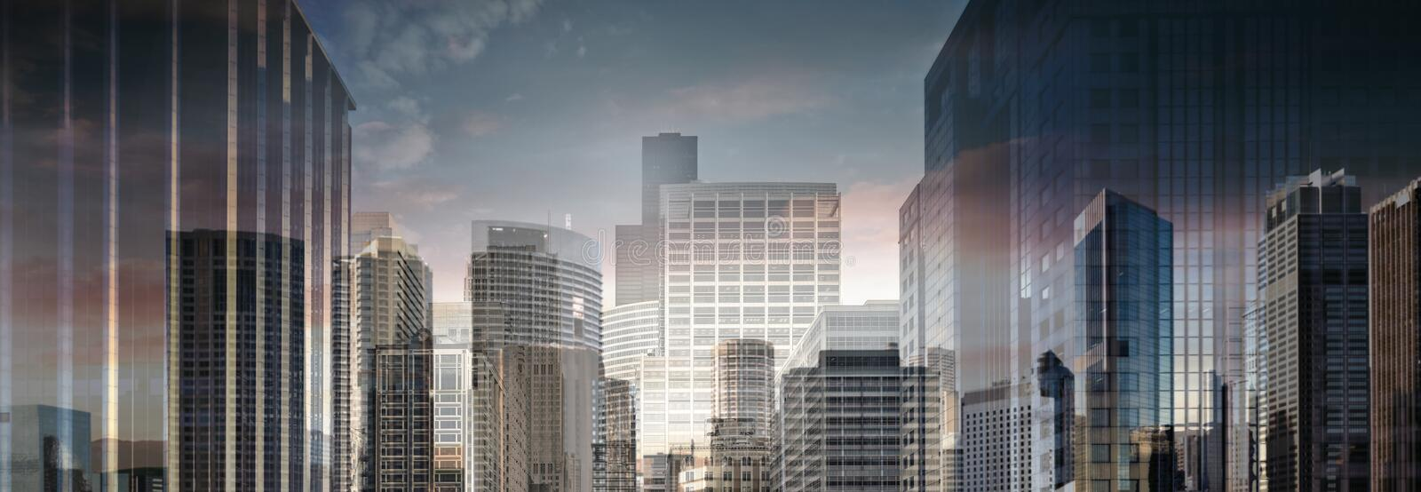 High Resolution Abstract Business City. (Collage stock photo