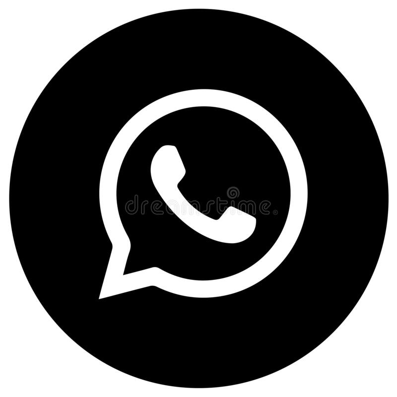 Whatsapp Logo With Vector Ai File Squred Black White Editorial Photography Illustration Of Rounded Designs 138331807