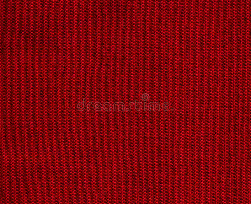 Cotton Fabric Texture - Red Stock Images