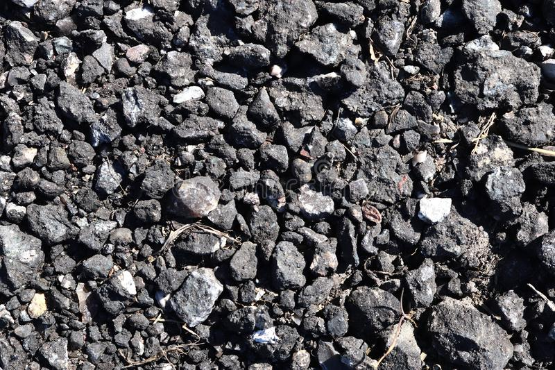 High resolution close up surface texture of gravel on the ground with high detail. Found in germany stock image