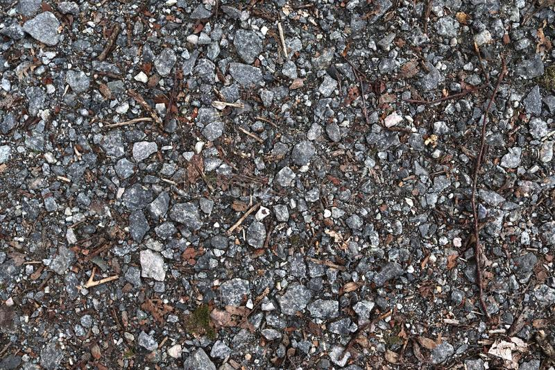 High resolution close up surface texture of gravel on the ground with high detail. Found in germany stock photo