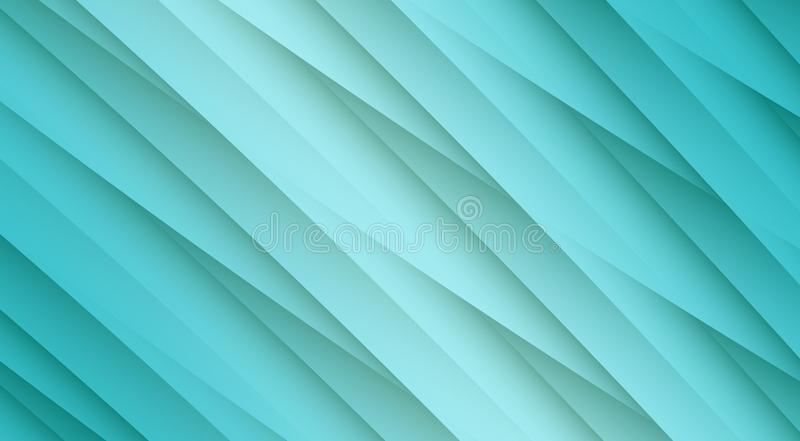 Fresh aqua blue diagonal uneven overlapping lines angles geometric abstract design background. High resolution computer generated abstract fractal geometric royalty free illustration