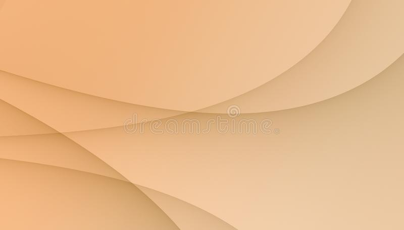 Light coral peach smooth overlapping curves abstract business background wallpaper illustration vector illustration