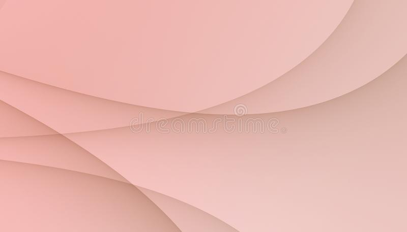 Soft light pink smooth overlapping curves abstract business background wallpaper illustration royalty free illustration