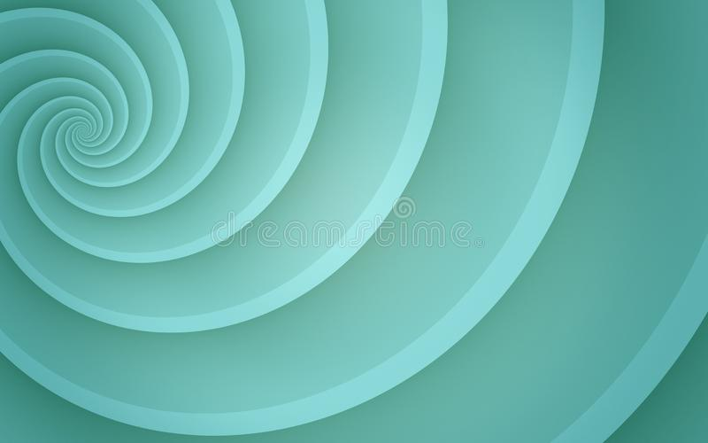 Bright ice blue smooth spinning offset spiral abstract background wallpaper illustration vector illustration