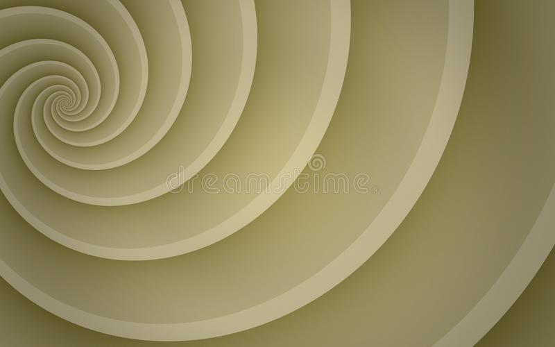 Ivory tan beige smooth spinning offset spiral abstract background wallpaper illustration. High resolution computer generated vector abstract background stock illustration