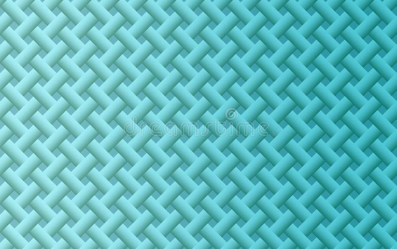 Fresh bright blue smooth intersecting lattice and lines geometric pattern abstract background illustration stock illustration