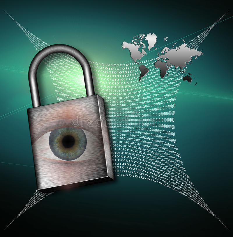 High Resolution Earth Web Security stock illustration