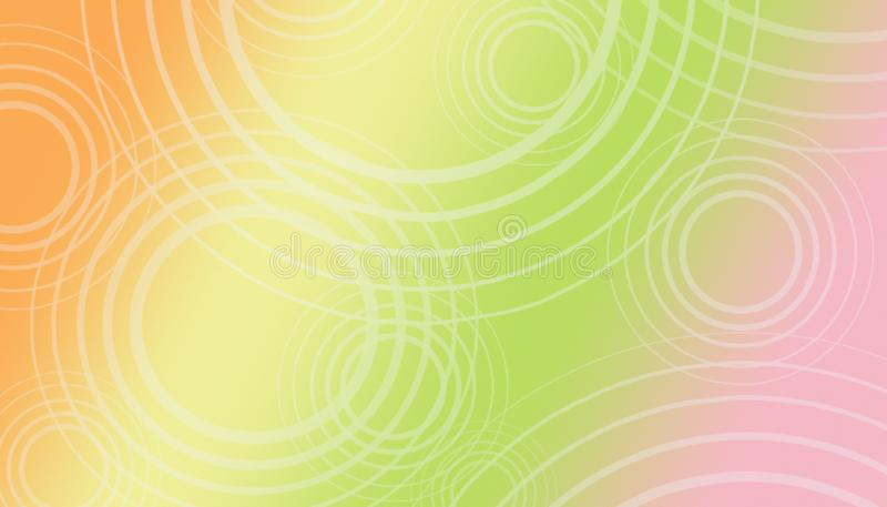 High resolution geometric circles abstract background in citrus colors royalty free illustration