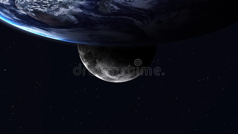 High resolution image of Earth in space. Elements royalty free illustration