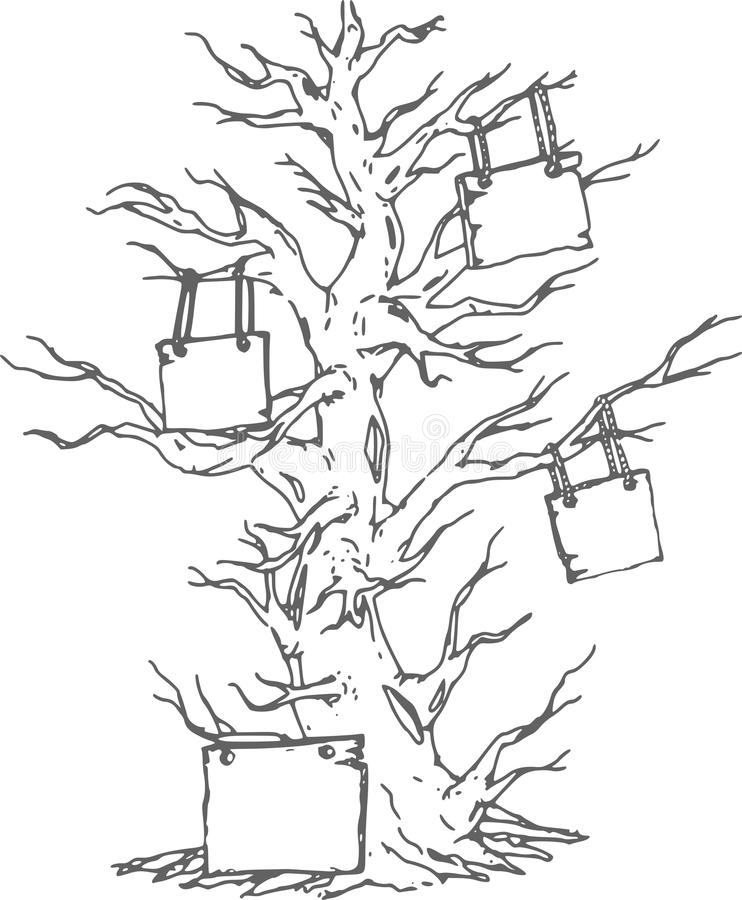 Old family tree,sketching and design. High resolution old dead tree image design graphic, image made unique and creative can be scaled vector illustration
