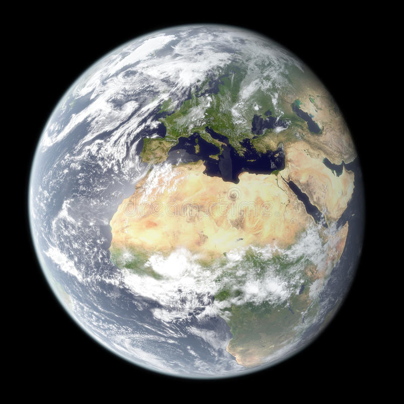High resolution planet Earth rendering royalty free stock photo