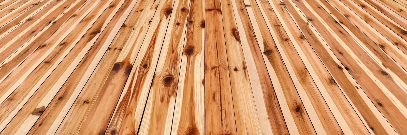 High Resolution Rustic Knotted Pinewood Floorboards Background royalty free stock images