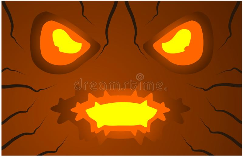 High resolution scary Halloween background pumpkin face vector illustration vector illustration