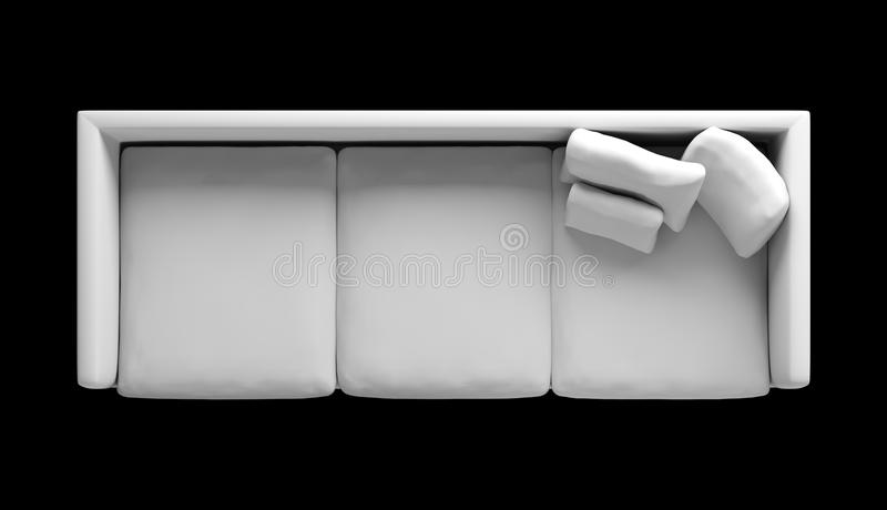 High Resolution Three Seat Sofa Top View For Plan