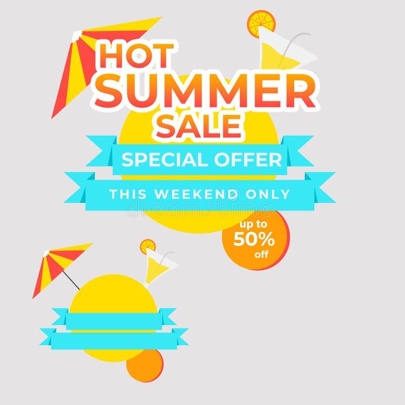 Hot Summer Special Offer best price Tag banner mega sale stock illustration