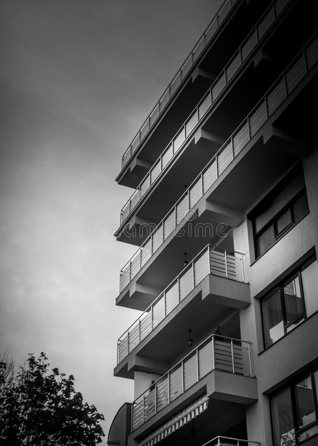 High rise apartment building stock photography