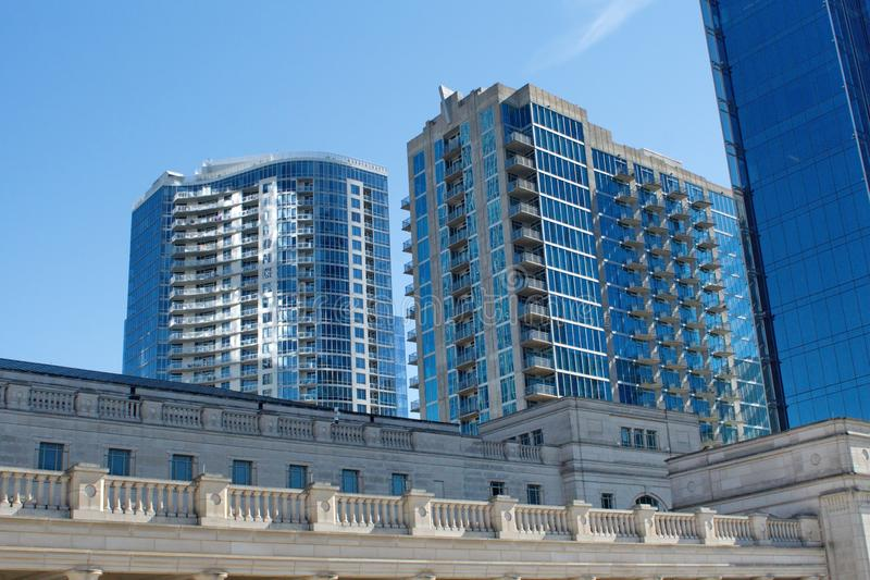 High rise apartments in Nashville stock photography