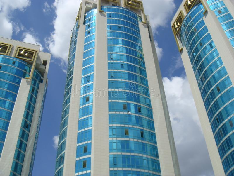 High-rise azure buildings go to a height. royalty free stock images