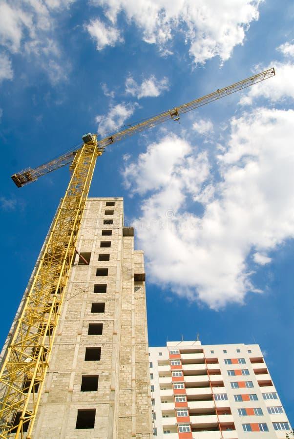 High-rise bouwkraan royalty-vrije stock fotografie