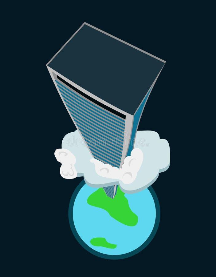 High-rise building vector illustration