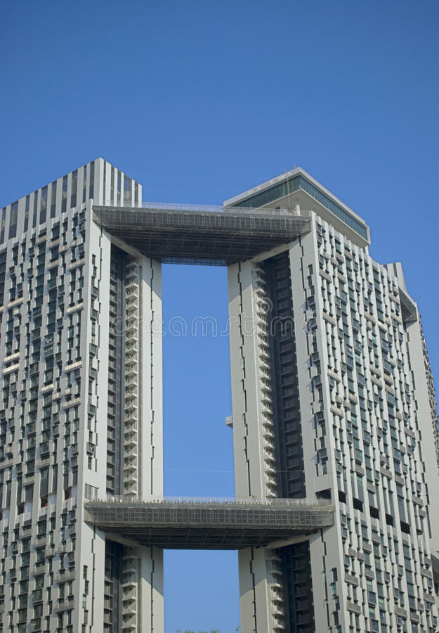 High rise building on a clear skies stock images