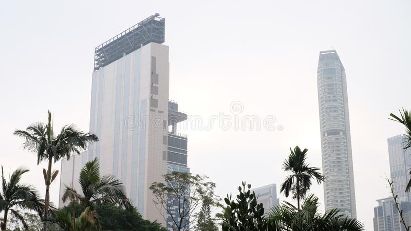 High-rise building in Hong Kong royalty free stock images